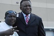 16 August 2008 - Chicago, Illinois -  George Wallace,.Comedian with rapper LaVert Jones.Bernie Mac Public Memorial.Venue: House of Hope, 752 E 114th St, Chicago, IL, 12pm. Photo Credit: Heather A. Lindquist/Sipa.