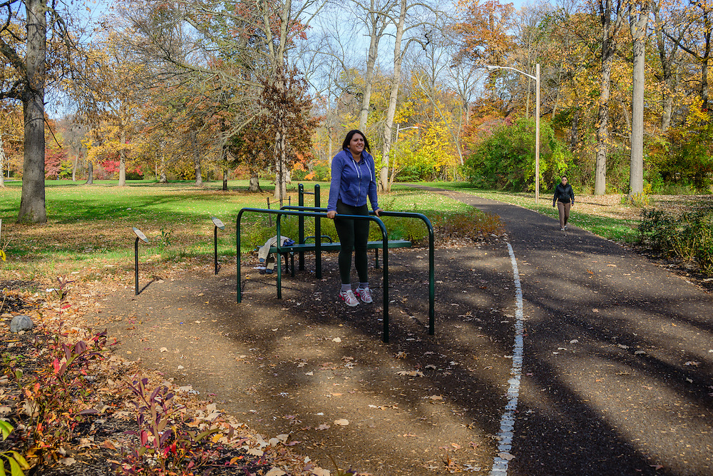 Exercise station, Exercise Path, Branch Brook Park is a county park of Essex County, Newark, New Jersey designed by Frederick Law Olmsted
