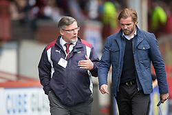 Hearts Head Coach Robbie Neilson. Partick Thistle 1 v 2 Hearts, Ladbrokes Premiership match played 27/89/2016 at Firhill.