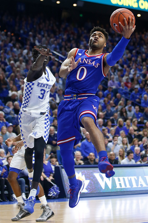 Kansas Jayhawks guard Frank Mason III  goes up for a layup against the Kentucky Wildcats on Saturday January 28, 2017 at Rupp Arena in Lexington, Ky. Photo by Michael Reaves | Staff