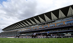 Victory Command ridden by jockey Silvestre De Sousa winning the Wooldridge Group Pat Eddery Stakes during King George Day at Ascot Racecourse.