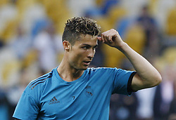 May 25, 2018 - Kiev, Ukraine - Real Madrid's Cristiano Ronaldo a training session at the Olimpiyskiy Stadium in Kiev, Ukraine, 25 May 2018.The 2018 UEFA Champions League Cup final football match between Real Madrid and Liverpool FC will held on May 26 at the Olimpiyskiy Stadium. (Credit Image: © Str/NurPhoto via ZUMA Press)