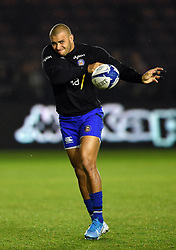 Jonathan Joseph of Bath Rugby in action during the pre-match warm-up - Mandatory byline: Patrick Khachfe/JMP - 07966 386802 - 23/11/2019 - RUGBY UNION - The Twickenham Stoop - London, England - Harlequins v Bath Rugby - Heineken Champions Cup