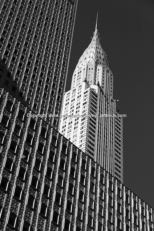 New York. the Chrysler and Mobil Buildings in Midtown  Manhatan, New York  United states