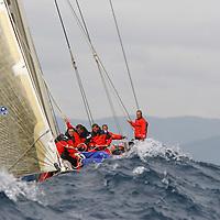 Equipage pendant une manche de brise. Voiles de St Tropez VOILE-EQUIPAGES-SAILING CREW-PART.1