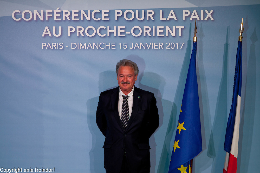 Middle East Peace Conference, Paris, France. International summit. 7O countries have participated in the summit. Luxembourg, Jean Asselborn, Minister of Foreign Affairs