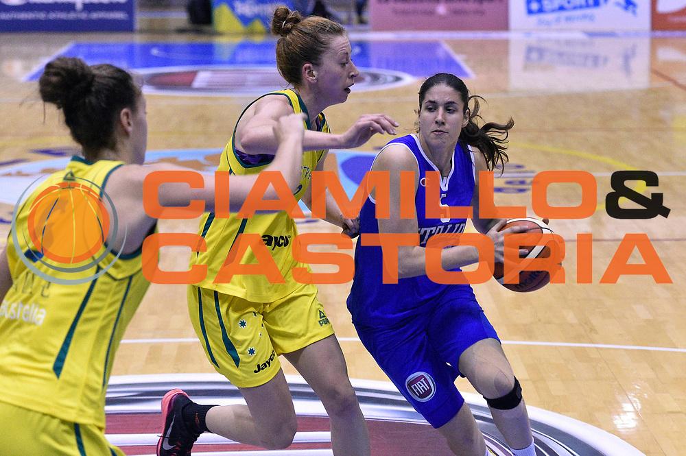 DESCRIZIONE : Caorle Amichevole Pre Eurobasket 2015 Nazionale Italiana Femminile Senior Italia Australia Italy Australia<br /> GIOCATORE : Maddalena Gaia Gorini<br /> CATEGORIA : penetrazione<br /> SQUADRA : Italia Italy<br /> EVENTO : Amichevole Pre Eurobasket 2015 Nazionale Italiana Femminile Senior<br /> GARA : Italia Australia Italy Australia<br /> DATA : 30/05/2015<br /> SPORT : Pallacanestro<br /> AUTORE : Agenzia Ciamillo-Castoria/GiulioCiamillo<br /> Galleria : Nazionale Italiana Femminile Senior<br /> Fotonotizia : Caorle Amichevole Pre Eurobasket 2015 Nazionale Italiana Femminile Senior Italia Australia Italy Australia<br /> Predefinita :