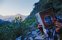Kalikot, 05 March 2005... A Maoist sympathizer is reading 'Lenin, The State and The Revolution'