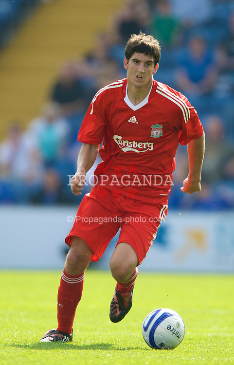 STOCKPORT, ENGLAND - Saturday, July 26, 2008: Liverpool's Mikel San Jose Dominguez in action against Stockport County during a pre-season friendly match at Edgely Park. (Pic by David Rawcliffe/Propaganda)