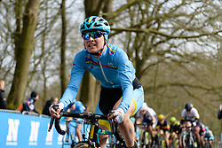 Sofia Bertizzolo (ITA) reaches the top of the Kemmelberg at Gent Wevelgem Elite Women 2018 - a 143 km road race from Ieper to Wevelgem on March 25, 2018. Photo by Sean Robinson/Velofocus.com