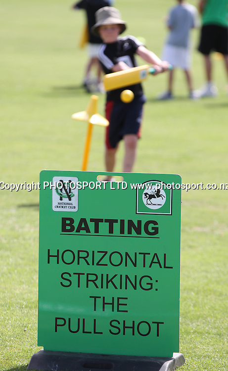 Activities at the National Bank's National Cricket Club ( NCC ) Supercamp, Nelson Park, Napier, Sunday 30 January 2011. Photo: Andrew Cornaga/photosport.co.nz