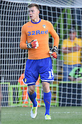 Leeds United goalkeeper Bailey Peacock-Farrell (1)  during the Pre-Season Friendly match between Forest Green Rovers and Leeds United at the New Lawn, Forest Green, United Kingdom on 17 July 2018. Picture by Alan Franklin.