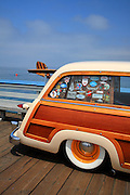 Classic Woody Car On The Pier