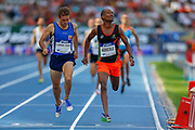 Igor Flandrin-Thoniel, France, Marc-Andre Agricole, France, 800m Men Masters, during the Diamond League Meeting at Stade Charlety, Paris, France on 24 August 2019.