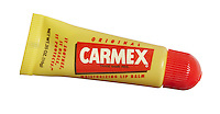 original carmex lip tube photographed on a white background