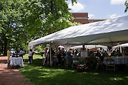 "Ohio University alumni and their families gather for a barbecue on the College Green on May 31, 2014, as part of the ""On The Green"" weekend, hosted by the Ohio University Alumni Association. Photo by Lauren Pond"