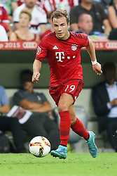 04.08.2015, Allianz Arena, Muenchen, GER, AUDI CUP, FC Bayern Muenchen vs AC Mailand, im Bild Mario Goetze (FC Bayern Muenchen #19) // during the 2015 AUDI Cup Match between FC Bayern Muenchen and AC Mailand at the Allianz Arena in Muenchen, Germany on 2015/08/04. EXPA Pictures © 2015, PhotoCredit: EXPA/ Eibner-Pressefoto/ Schüler<br /> <br /> *****ATTENTION - OUT of GER*****