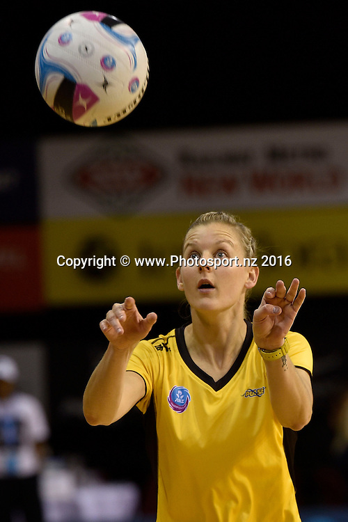 Pulse's captain Katrina Grant warms up during the ANZ Champs - Pulse v Mystics netball match at TSB Arena in Wellington on Monday the 18 April 2016. Copyright Photo by Marty Melville / www.Photosport.nz