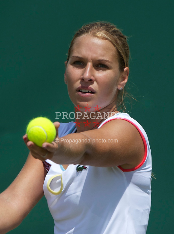 LONDON, ENGLAND - Thursday, June 23, 2011: Dominika Cibulkova (SVK) in action during the Ladies' Singles 2nd Round match on day four of the Wimbledon Lawn Tennis Championships at the All England Lawn Tennis and Croquet Club. (Pic by David Rawcliffe/Propaganda)