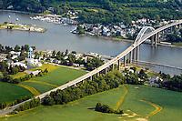 Aerial photograph of Chesapeake City, Maryland