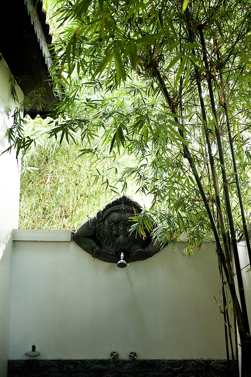 Outdoor shower at Soujourn resort. Siem Reap, Cambodia. Siem Reap, Cambodia