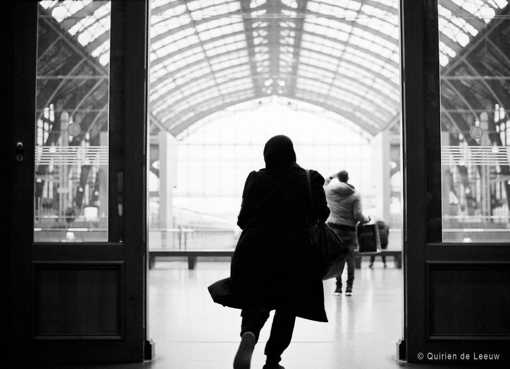 Ingang oude hal van station Antwerpen Centraal.