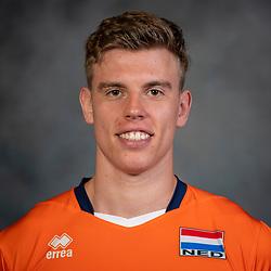 21-05-2019 NED: Team shoot Dutch volleyball team men, Arnhem<br /> Gijs van Solkema #15 of Netherlands