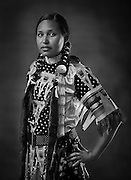 Mye Sgoagani, Mi'Kmaqua/Miqmak, old-style jingle dress dancer from Frederickton, Canada.