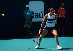 March 23, 2019 - Miami, FLORIDA, USA - Caroline Garcia of France in action during her third-round match at the 2019 Miami Open WTA Premier Mandatory tennis tournament (Credit Image: © AFP7 via ZUMA Wire)