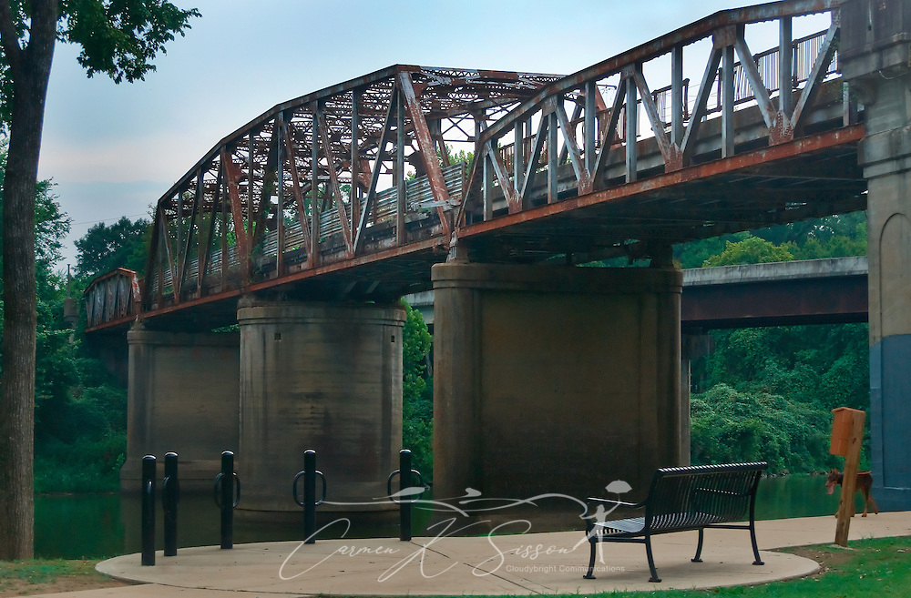The old Hwy. 82 trestle bridge is pictured in Columbus, Miss. Aug. 15, 2010. Plans are currently underway to restore the bridge, which spans the Tennessee-Tombigbee Waterway, and turn it into a pedestrian walkway. (Photo by Carmen K. Sisson/Cloudybright)