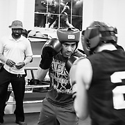 "Boxing gyms have the tradition to have special nights where boxers of other gyms are invited to practice or do ""sparring"" to gain experience. (Oscar Aguirre, 2017)"