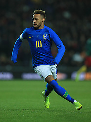 Brazil's Neymar during the international friendly match at Stadium MK, Milton Keynes.