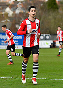 Lloyd James (4) of Exeter City during the EFL Sky Bet League 2 match between Exeter City and Wycombe Wanderers at St James' Park, Exeter, England on 10 February 2018. Picture by Graham Hunt.