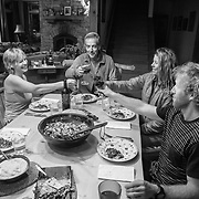 Dinner by Martha Hunt. Clockwise from Left - Martha Hunt, Jim Finneran, Lynsey Dyer, and Griffin Post.
