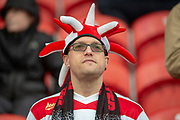 A Doncaster Rovers Fan during the The FA Cup 5th round match between Doncaster Rovers and Crystal Palace at the Keepmoat Stadium, Doncaster, England on 17 February 2019.