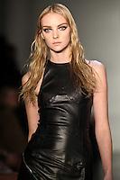 Heather Marks walks down runway for F2012 Cuchnie Et Ochs' collection in Mercedes Benz fashion week in New York on Feb 10, 2012 NYC