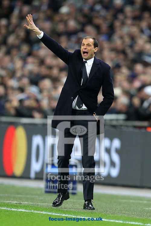 Juventus Manager Massimiliano Allegri during the UEFA Champions League match at Wembley Stadium, London<br /> Picture by Paul Chesterton/Focus Images Ltd +44 7904 640267<br /> 06/03/2018