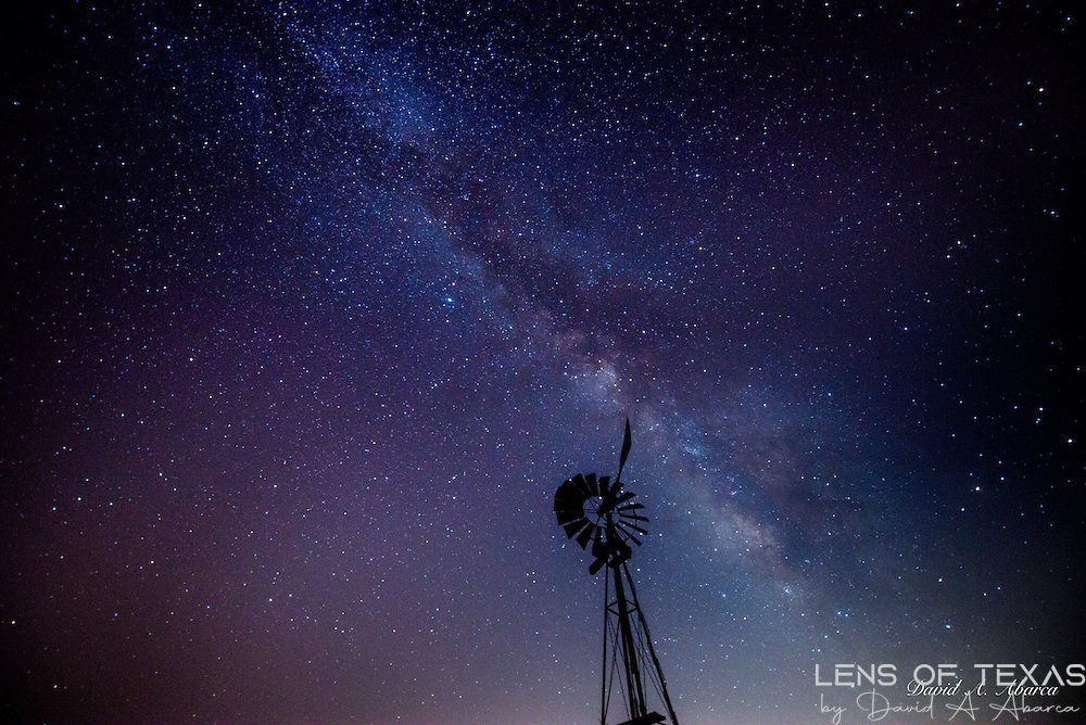 Windmill against the Milky Way
