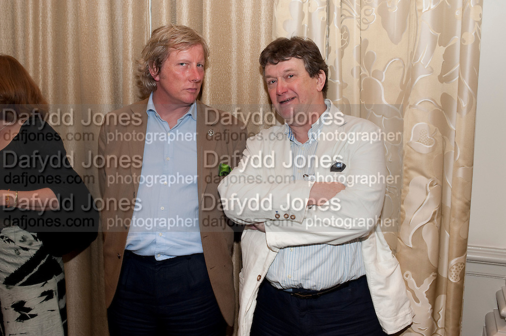 RANALD MACDONALD; ROWLEY LEIGH, Tatler Restaurant Awards and the launch of the Tatler Restaurant Guide 2011. The Langham. Portland Place. London. 9 May 2011. <br /> <br />  , -DO NOT ARCHIVE-© Copyright Photograph by Dafydd Jones. 248 Clapham Rd. London SW9 0PZ. Tel 0207 820 0771. www.dafjones.com.