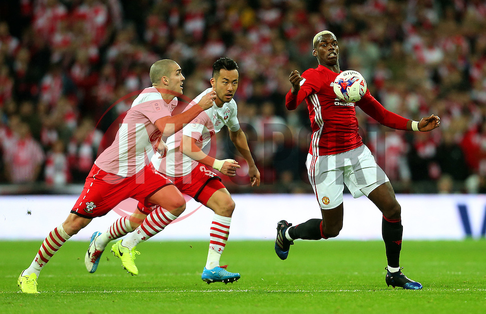 Paul Pogba of Manchester United attacks - Mandatory by-line: Matt McNulty/JMP - 26/02/2017 - FOOTBALL - Wembley Stadium - London, England - Manchester United v Southampton - EFL Cup Final