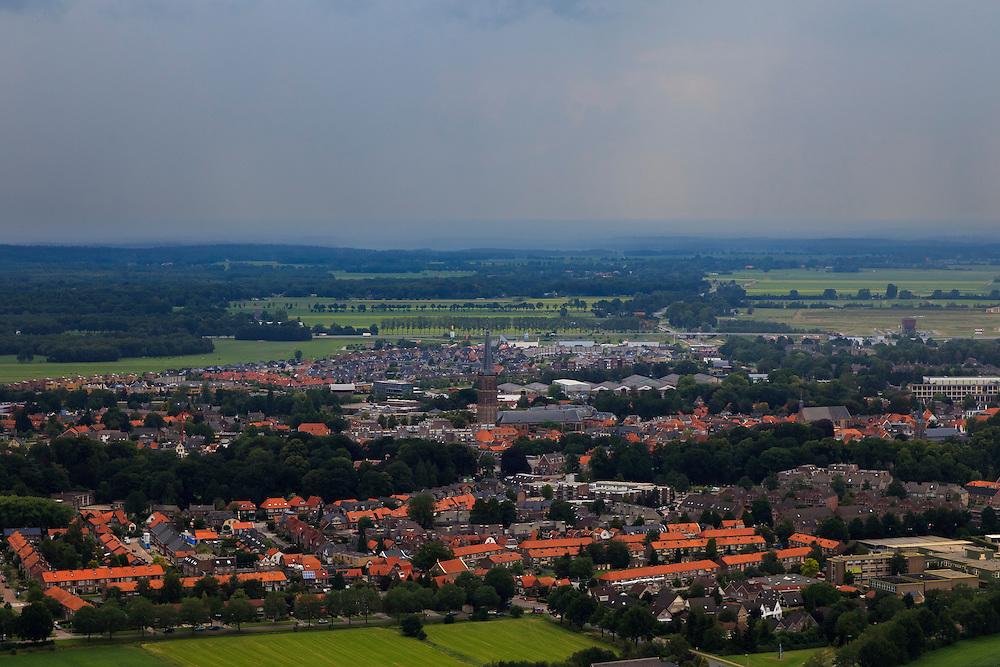 Nederland, Overijssel, Steenwijk, 30-06-2011;.Zicht op het stadje Steenwijk. View on Steenwijk..luchtfoto (toeslag), aerial photo (additional fee required).copyright foto/photo Siebe Swart
