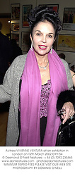 Actress VIVIENNE VENTURA at an exhibition in London on 12th March 2002.<br />OYH 54