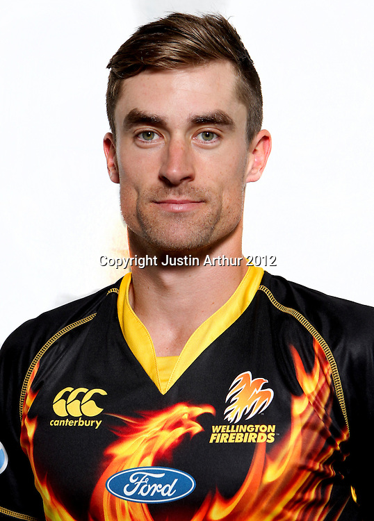 Josh Brodie, Wellington Firebirds HRV domestic cricket headshots. Basin Reserve, Wellington, New Zealand on Friday 21 December 2012. Photo:Justin Arthur / photosport.co.nz