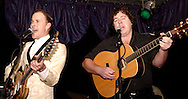 Crazy Joe (left) and Rob Heiliger perform at Peach's Grill in Yellow Springs, Saturday, November 28, 2009.