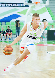 Edo Muric of Slovenia during basketball match between National teams of Slovenia and Serbia in day 3 of Adecco cup, on August 5, 2012 in Arena Stozice, Ljubljana, Slovenia. (Photo by Vid Ponikvar / Sportida.com)