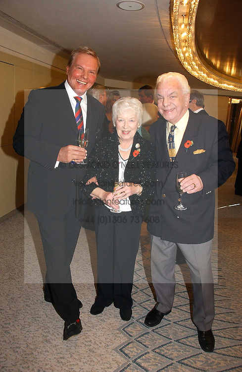 Left to right, JESS CONRAD, JUNE WHITFIELD and BARRY CRYER at the Lady Taverners Tribute lunch in honour of Ronnie Corbett held at The Dorchester Hotel, Park Lane, London on 3rd November 2006.<br /><br />NON EXCLUSIVE - WORLD RIGHTS