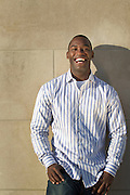 Pierre Garcon poses for a portrait at White River State park  in Indianapolis, Wednesday, Oct. 20, 2010. (Photo by AJ Mast)