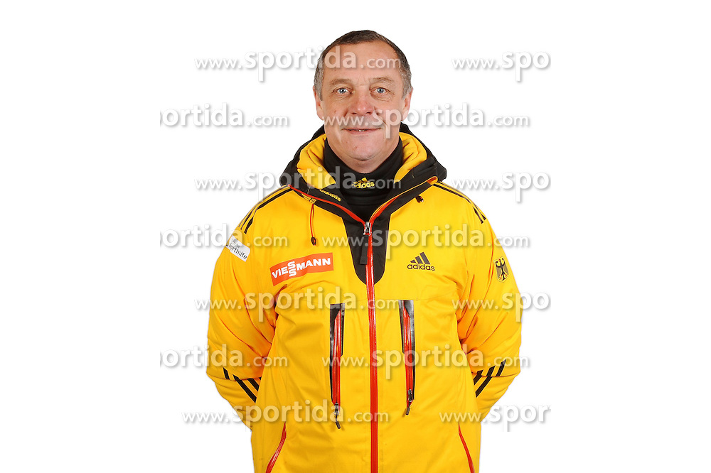 03.01.2014, Kunsteisbahn, Koenigssee, GER, BSD, Rennrodler Team Deutschland, Portrait, im Bild Rennrodel-Bundestrainer Norbert Loch // during Luge athletes of team Germany, Portrait Shooting at the Kunsteisbahn in Koenigssee, Germany on 2014/01/04. EXPA Pictures &copy; 2014, PhotoCredit: EXPA/ Eibner-Pressefoto/ Stuetzle<br /> <br /> *****ATTENTION - OUT of GER*****