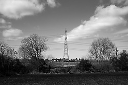 Electricity pylon, Rothley, Leicestershire, England.<br />