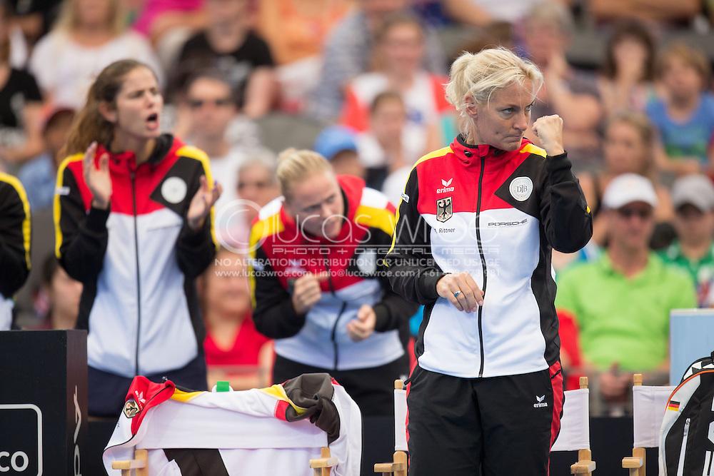 Barbara Rittner (GER), April 19, 2014 - TENNIS : Fed Cup, Semi-Final, Australia v Germany. Pat Rafter Arena, Brisbane, Queensland, Australia. Credit: Lucas Wroe